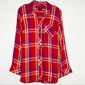 5/$25 Talbots Red White Blue Button Down Shirt